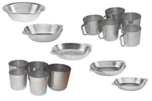 Алюминиевые кружки,тарелки и стаканы разных размеров. - изображение 1