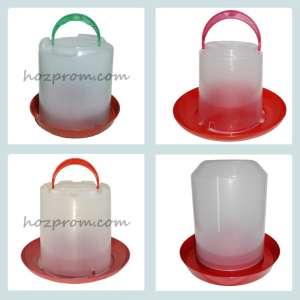 Вакуумная пластиковая поилка для домашней птицы - изображение 1