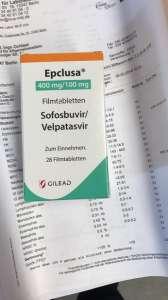Епклуса - софосбувир + велпатасвир, покупался в Германии - изображение 1