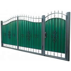 Кованые ворота 3450х2150 мм - изображение 1