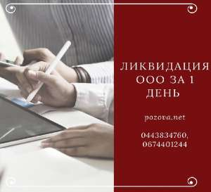 Ліквідація ТОВ за 1 день Дніпро - изображение 1
