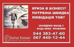 Ліквідувати ТОВ за 1 день Дніпро. Ліквідація підприємств під ключ Дніпро. - изображение 1
