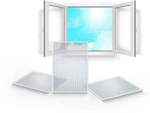 Москитная сетка на окна и двери, ролетная, рамочная - изображение 1