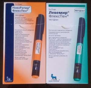 Продам Новорапид, Левемир в шприц ручках, постоянно - изображение 1