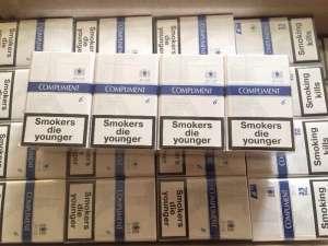 Продам оптом сигарeты «Compliment Demi blue6 XXL». Ящик-480 пачек (60 блоков по 8пачек). - изображение 1