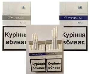Сигареты Compliment super slims (White, Blue) оптом - изображение 1