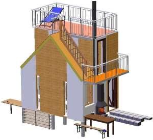 Швидко споруджуєма (быстро возводимая) будівля зборного розборного секційного типу. Модульний дім - изображение 1