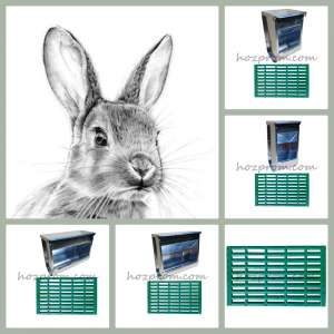 Экономная кормушка для кроликов бункерная - изображение 1