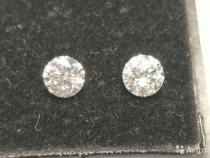 2 бриллианта (CVD) по 0.46карата, Цвет-F(G) - изображение 1